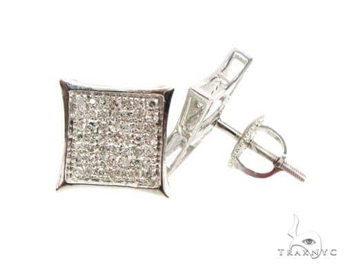 Pave SQ Earrings 3 Stone