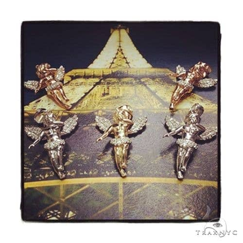 Little Prong Diamond Angel Pendant Stone
