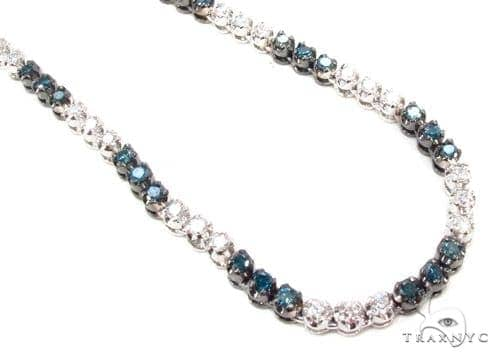 Prong Diamond Chain 40 Inches 4mm 77 Grams Diamond