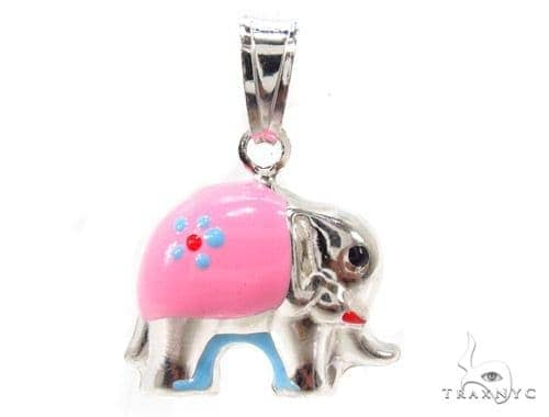 Elephant Silver Pendant 36354 Metal