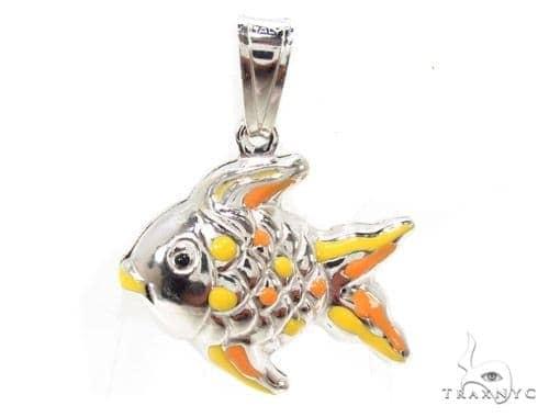 Fish Silver Pendant 36374 Metal