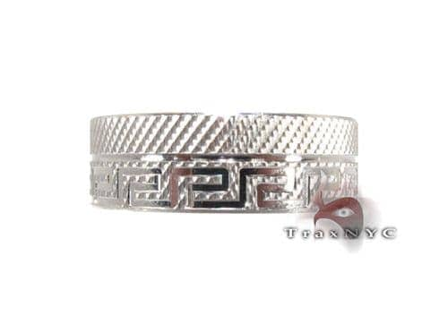 White Gold Greek Band Style
