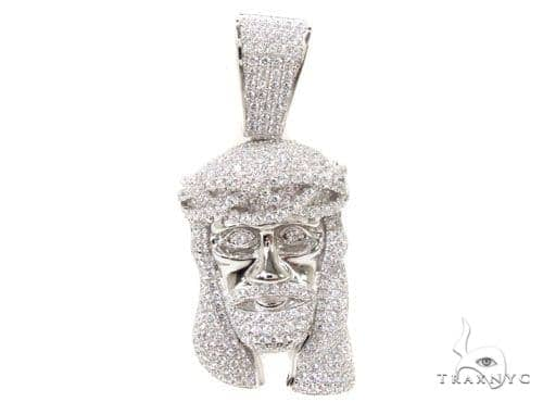 Jesus Crown of Thorns Silver Pendant 36582 Metal