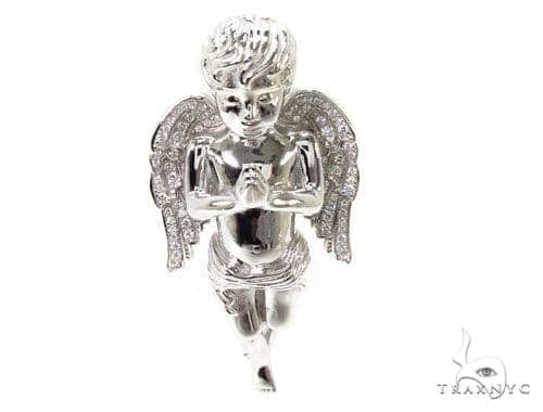 Praying Angel Silver Pendant 36598 Metal