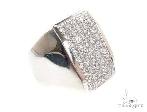 Mens Micropave Diamond Ring 36641 Stone