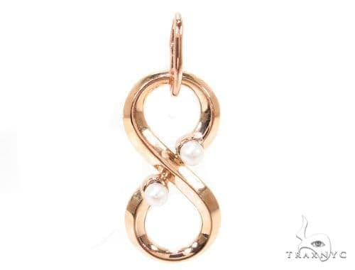 18K Gold Pearl Eternity Pendant Metal