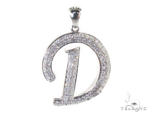 Frozen D Pendant Metal