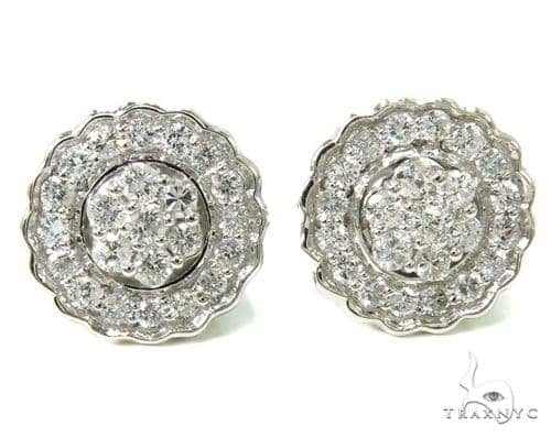 Pron Diamond Earrings 36943 Stone