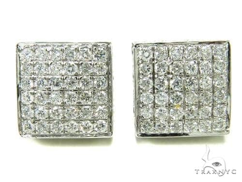 Prong Diamond Earrings 36944 Stone
