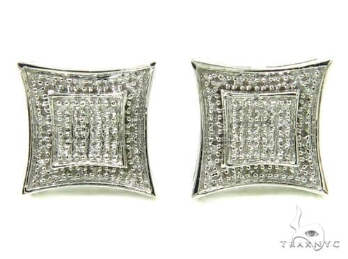 Prong Diamond Earrings 36945 Stone