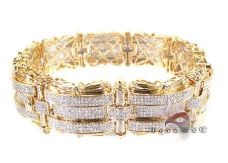 YG Rise & Fall Bracelet Diamond