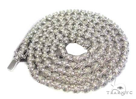14K White Gold & Diamond PR Chain 30 Inches 93 Grams Diamond