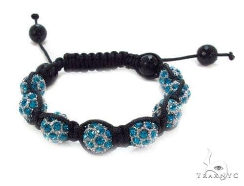 Crystal Shambala Rope Bracelet 37131 Gold