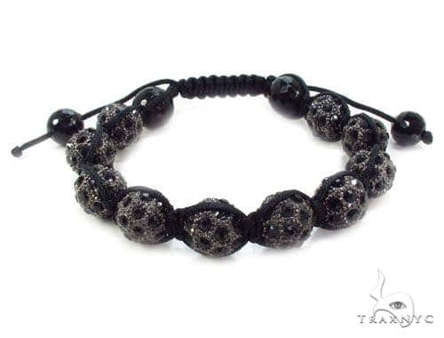 Crystal Shambala Rope Bracelet 37133 Silver & Stainless Steel