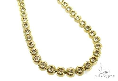 Yellow Gold Destiny Chain 32 Inches, 7mm, 105.5 Grams Diamond