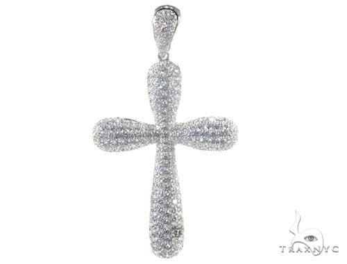 Bubble cross ladies diamond cross pendant white gold 18k round cut bubble cross mozeypictures Gallery