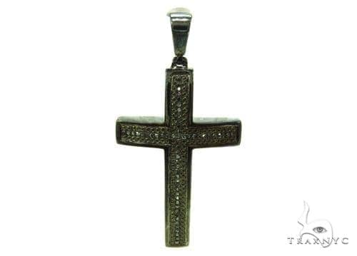 Prong Black Diamond Silver Cross 37180 Silver