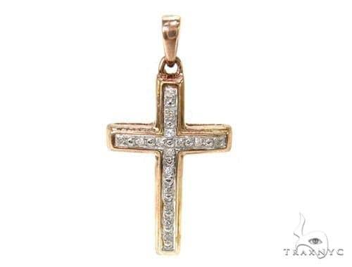 Prong Diamond Silver Cross 37191 Silver