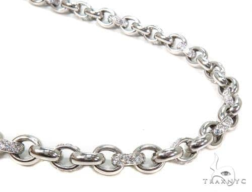 Prong Diamond Chain 26 Inches, 8mm, 95 Grams Diamond