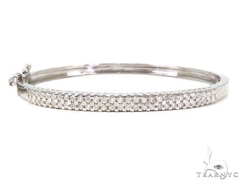 Prong Diamond Bangle Bracelet 37396 Bangle