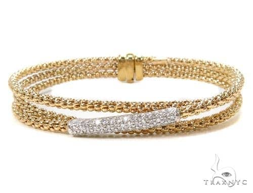 Prong Diamond Bracelet 37550 Bangle