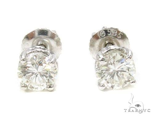 Prong Diamond Earrings 37562 Stone