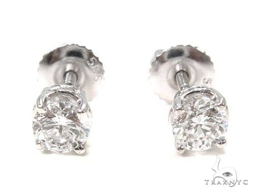 Prong Diamond Earrings 37564 Stone