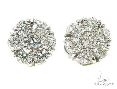 Prong Diamond Earrings 37563 Stone