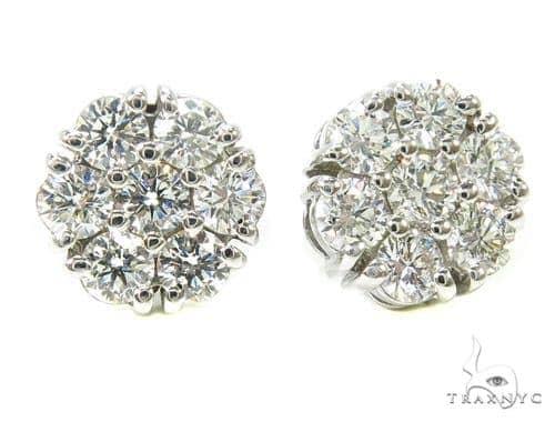 Prong Diamond Earrings 37563 Stone