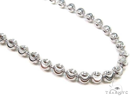 Moon Cut Silver Chain 36 Inches, 3mm, 31.4 Grams Silver