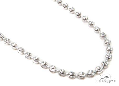 Moon Cut Silver Chain 36 Inches, 3mm, 18.1 Grams Silver