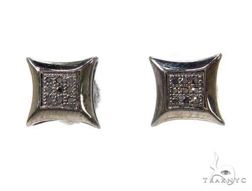 Prong Black Diamond Earrings 37697 Stone