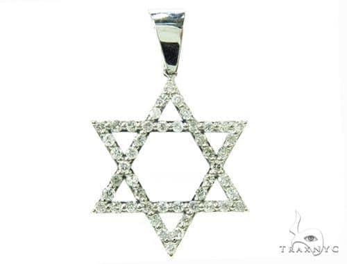 Star of David Diamond Pendant Metal