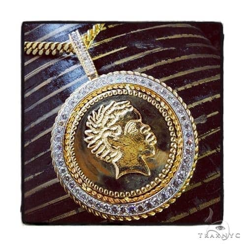 Custom Diamond Africanus Pendant Metal