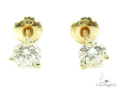 Prong Diamond 18k Gold Earrings 37735 Style