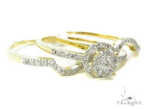 Prong Diamond Wedding Ring Set 37760 Engagement
