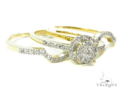 Prong Diamond Wedding Ring Set 37760 Engagement