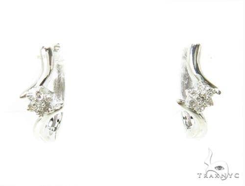 Prong Diamond Hoop Earrings 37832 Style