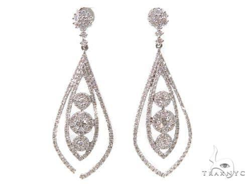 Prong Diamond Chandelier Earrings 38024 Style