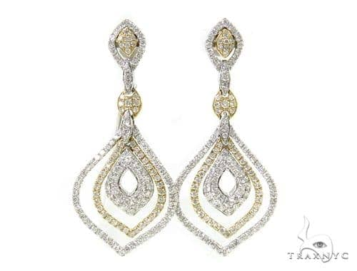 Fallen Leaves Diamond Chandelier Earrings 38030 Style