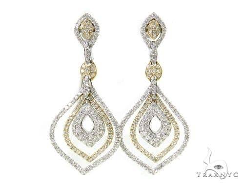 Fallen Leaves Diamond Chandelier Earrings 38030 Style