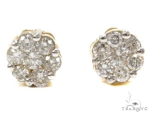 Prong Diamond Earrings 39488 Stone