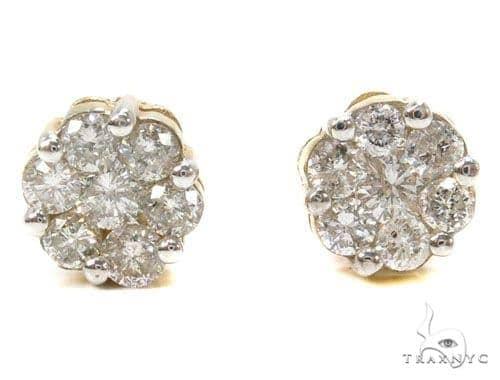 Prong Diamond Earrings 39488 Stone