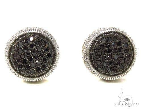 Prong Black Diamond Earrings 39505 Stone