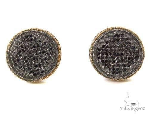 Prong Black Diamond Earrings 39506 Stone