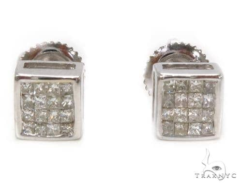 Invisible Diamond Earrings 39510 Stone
