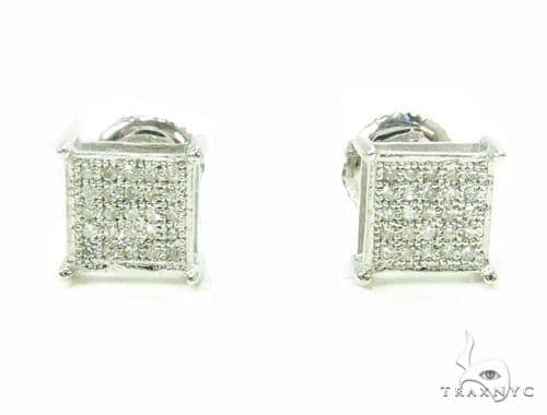 Prong Diamond 10K Gold Earrings 39711 Metal