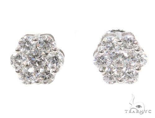 Prong Diamond Earrings 39846 Stone