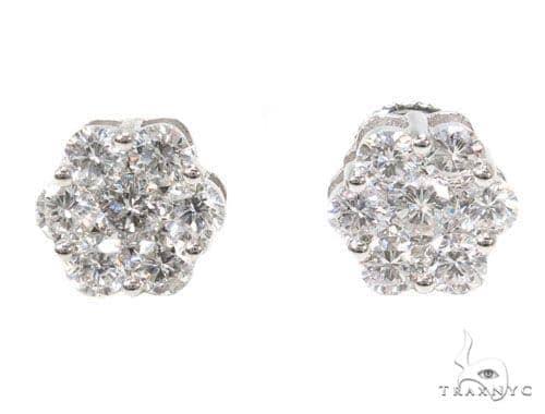 Prong Diamond Earrings 39846 Stone