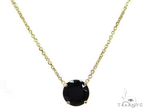 14k Yellow Gold Onyx Necklace 40017 Gemstone